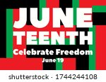 juneteenth freedom day. african ... | Shutterstock .eps vector #1744244108