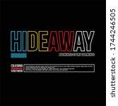 hideaway authentic sport... | Shutterstock .eps vector #1744246505