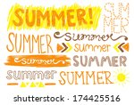 summer hand drawing typography | Shutterstock . vector #174425516