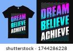 dream believe achieve.... | Shutterstock .eps vector #1744286228