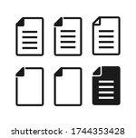 document vector icon set. file...