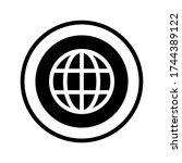 web icon. go to web symbol icon ...