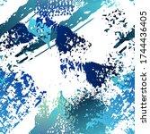 worn texture splatter surface.... | Shutterstock .eps vector #1744436405
