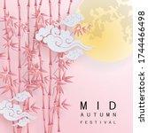 mid autumn festival or moon... | Shutterstock .eps vector #1744466498