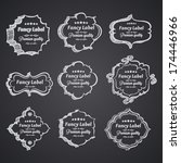 vintage label banners  hand... | Shutterstock .eps vector #174446966