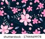 beautiful pink cherry blossom... | Shutterstock .eps vector #1744469978