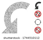 line mosaic rotate left icon... | Shutterstock .eps vector #1744510112