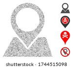 linear collage map pointer icon ... | Shutterstock .eps vector #1744515098