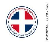 made in dominican republic... | Shutterstock .eps vector #1744527128