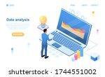 date analysis concept. a man... | Shutterstock .eps vector #1744551002