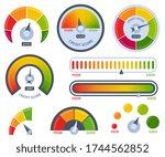 credit score. bad or good meter ...   Shutterstock .eps vector #1744562852