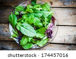 Fresh Green Salad With Spinach...