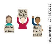 anti racism protester  people... | Shutterstock .eps vector #1744572212