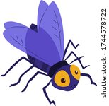 vector illustration of insect... | Shutterstock .eps vector #1744578722
