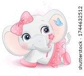 cute little bear with ballerina ...   Shutterstock .eps vector #1744632512