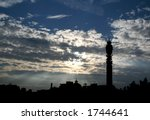 london skyline  bt tower