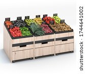 3d Render Promo With Vegetables ...