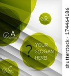 infographic abstract background.... | Shutterstock .eps vector #174464186