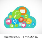cloud computing concept on... | Shutterstock .eps vector #174465416