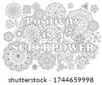 vector coloring book for adults ... | Shutterstock .eps vector #1744659998