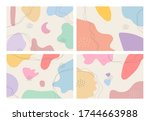 a collection of four abstract... | Shutterstock .eps vector #1744663988