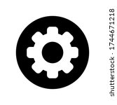 settings engine cog gear icon... | Shutterstock .eps vector #1744671218