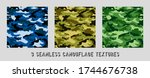 vector camouflage patterns for... | Shutterstock .eps vector #1744676738