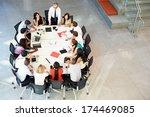 businessman addressing meeting... | Shutterstock . vector #174469085