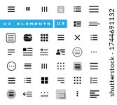 ui set of vector icons and... | Shutterstock .eps vector #1744691132