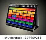 colorful calendar january 2014 | Shutterstock . vector #174469256