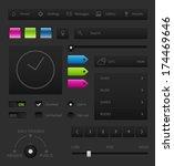 dark user interface elements