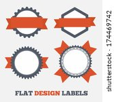 flat design labels