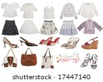collection of fashion clothes | Shutterstock . vector #17447140
