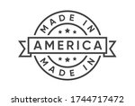 made in america   usa    stamp... | Shutterstock .eps vector #1744717472