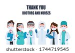 thank you doctor and nurses and ... | Shutterstock .eps vector #1744719545