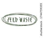 zero waste logo template.... | Shutterstock .eps vector #1744759355