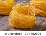 Dry Pasta In The Form Of Nests...