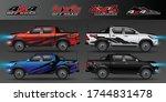 4x4 logo for 4 wheel drive... | Shutterstock .eps vector #1744831478