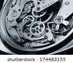 vintage watch machinery macro... | Shutterstock . vector #174483155