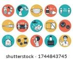 coronavirus infection... | Shutterstock .eps vector #1744843745