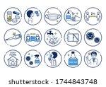 coronavirus infection...   Shutterstock .eps vector #1744843748
