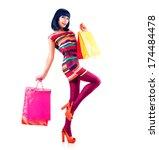 Fashion Shopping Model Girl...