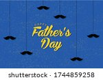 cute happy father's day... | Shutterstock .eps vector #1744859258