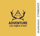 vintage retro adventure logo... | Shutterstock .eps vector #1744863425