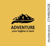 vintage retro adventure... | Shutterstock .eps vector #1744863428