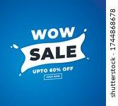 blue bright banner for sale for ... | Shutterstock .eps vector #1744868678