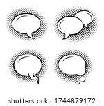 set of clean round speech... | Shutterstock .eps vector #1744879172