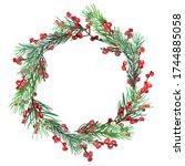 Christmas Wreath. Ornaments...