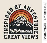outdoor mountain with rainbow... | Shutterstock .eps vector #1744891418