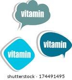 vitamin. set of stickers ... | Shutterstock . vector #174491495